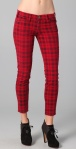 Current:Elliott The Stilletto Plaid Jeans 188